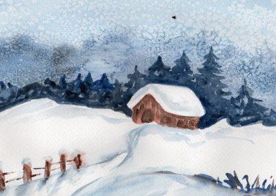 Wintermalerei